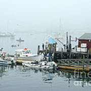 Commercial Lobster Dock Art Print