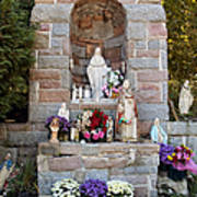 Comparison Mother Mary Shrine Art Print