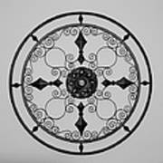 Compass In Black And White Art Print