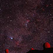 Composite Image Of Halley's Comet & Mauna Kea Art Print