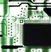 Computer Circuit Board Art Print