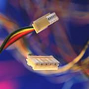 Computer Power Cables Art Print