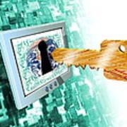 Computer Security Art Print