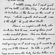 Conan Doyle: Letter Art Print