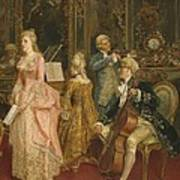 Concert At The Time Of Mozart Art Print by Ettore Simonetti