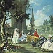 Concert In A Garden Print by Filippo Falciatore