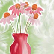 Coneflower Still Life Art Print