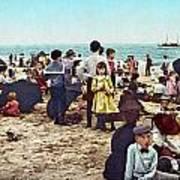 Coney Island: Beach, C1902 Art Print