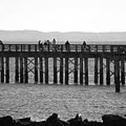 Coney Island Pier In Black And White Art Print