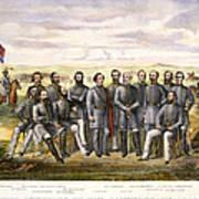 Confederate Generals Art Print by Granger