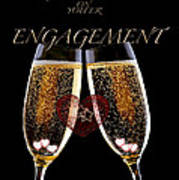 Congratulation On Engagement Art Print