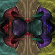 Conjoint - Multicolor Art Print by Christopher Gaston