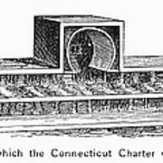 Connecticut: Charter Box Art Print