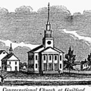 Connecticut: Church, 1836 Art Print