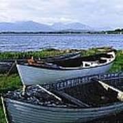 Connemara, Co Galway, Ireland Boats Art Print