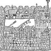 Constantinople, Procession At City Art Print