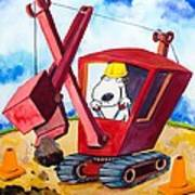 Construction Dogs 2 Art Print