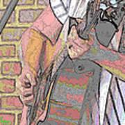 Contorno Guitarist 1 Art Print