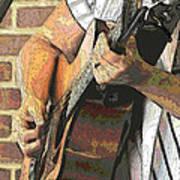 Contorno Guitarist 2 Art Print