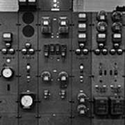 Control Panels Of The Detroit Edison Art Print