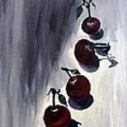 Conversation With Cherries  Art Print