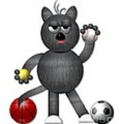 Cool Alley Cat Athlete Art Print