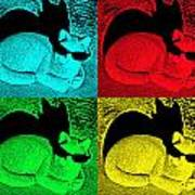 Cool Cat Pop Art Art Print