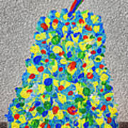 Cool Crazy Pear Abstract Painting Art Print