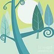 Cool Forest Art Print