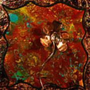 Copper Flower Art Print