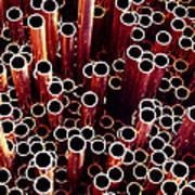 Copper Pipes. Art Print