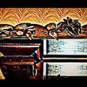 Copper Roses Bands Of Steel Art Print