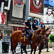 Cops In Manhattan Art Print