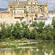 Cordoba Cathedral And Guadalquivir River Art Print