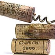 Cork Of French Wine Art Print by Bernard Jaubert