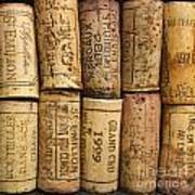 Corks Of Fench Vine Of Bordeaux Art Print