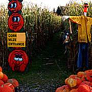 Corn Maze Art Print
