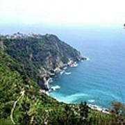 Corniglia Cinque Terre And Vineyards Art Print