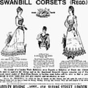 Corset Advertisement, 1892 Art Print