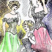 Corset Ladies Art Print