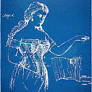 Corset Patent Series 1877 Art Print