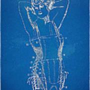 Corset Patent Series 1924 Figure 1 Art Print