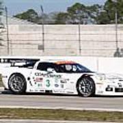 Corvette Racing Ron Fellows C6r Art Print