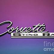 Corvette Sting Ray Emblem Art Print