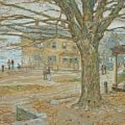 Cos Cob In November Art Print by Childe Hassam