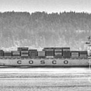 Cosco Cargo Ship Art Print