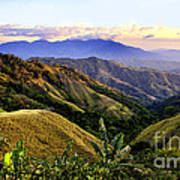 Costa Rica Rolling Hills 1 Art Print