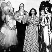 Costume Party At San Simeon. Irene Art Print