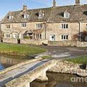 Cotswold Village Of Lower Slaughter Art Print