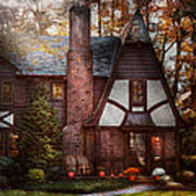 Cottage - Westfield Nj - A Place To Retire Art Print by Mike Savad